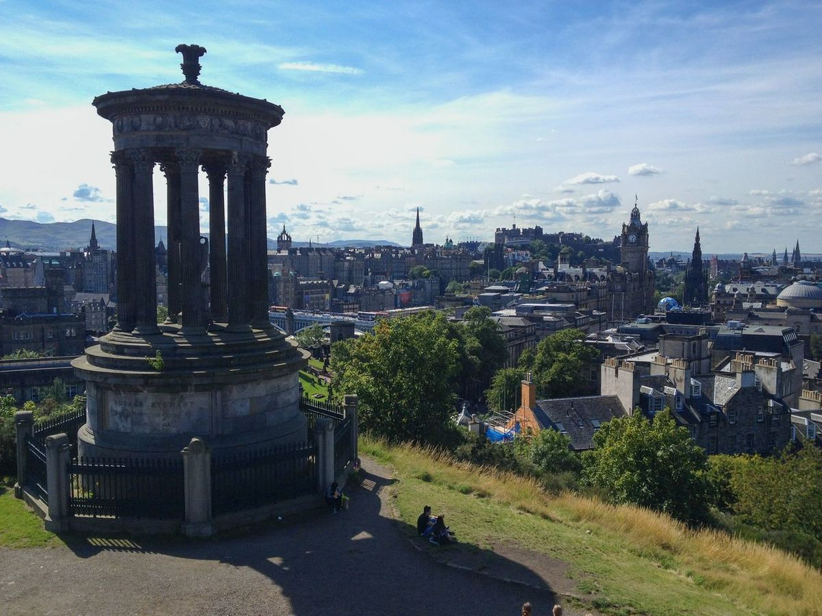 Dugald Stewart Monument Calton Hill Best City View EyeEm City Photography Sightseeing Historical Monuments Historical Site Historic City Scotland Edinburgh, Scotland Hello World