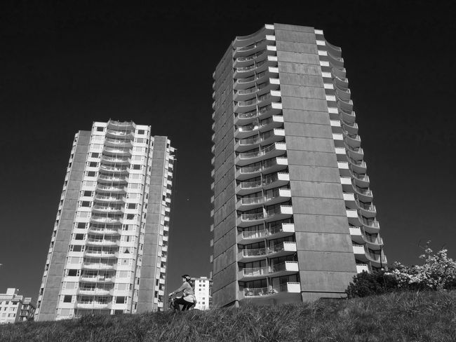 Tower Block  Blackandwhite Cycling Cyclist Bici Bw Black & White Architecture_bw