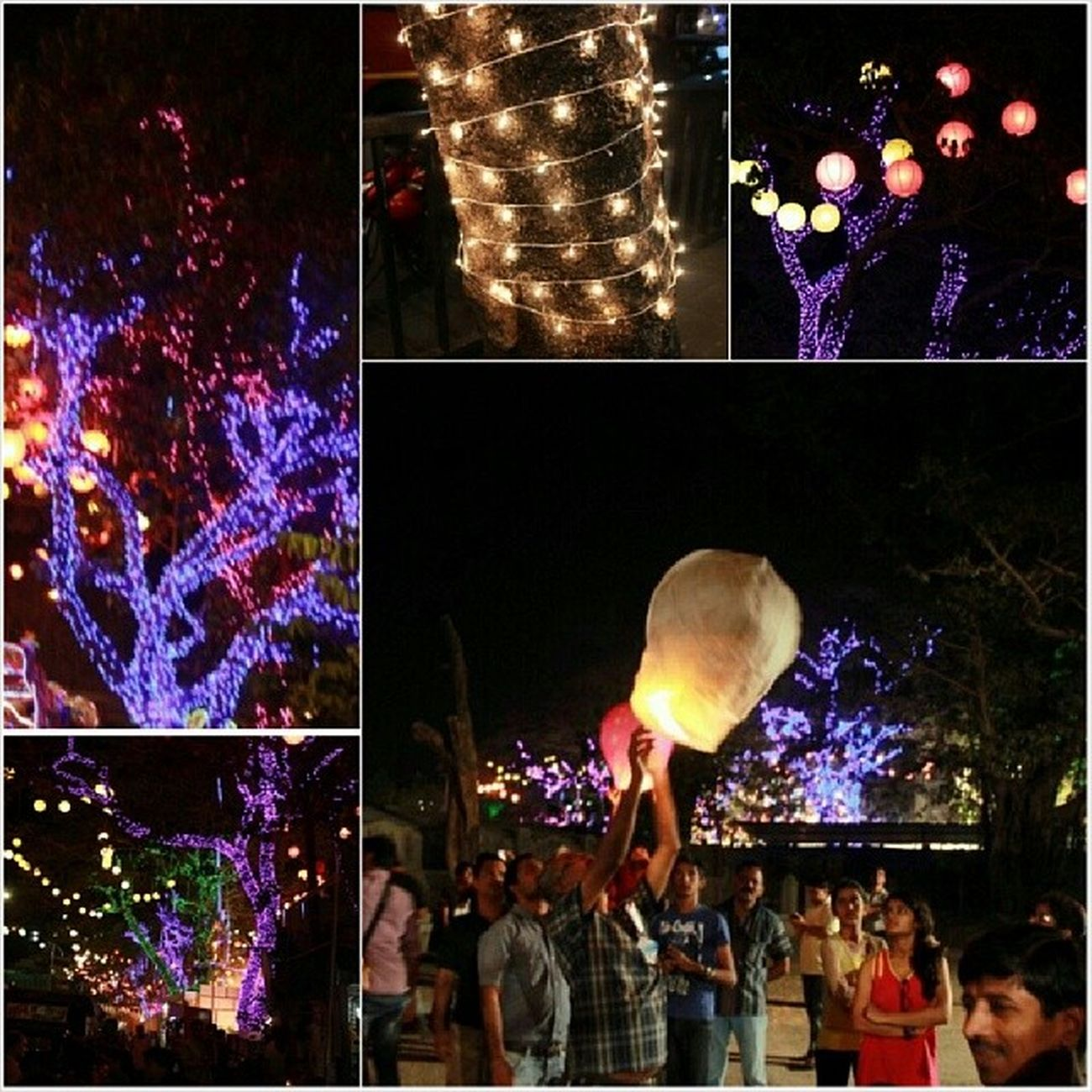Gudipadwa celebration in the eve Talaopali Thane Gudipadwa Lights Collage Instagram Instaedit Instamoment Instafest