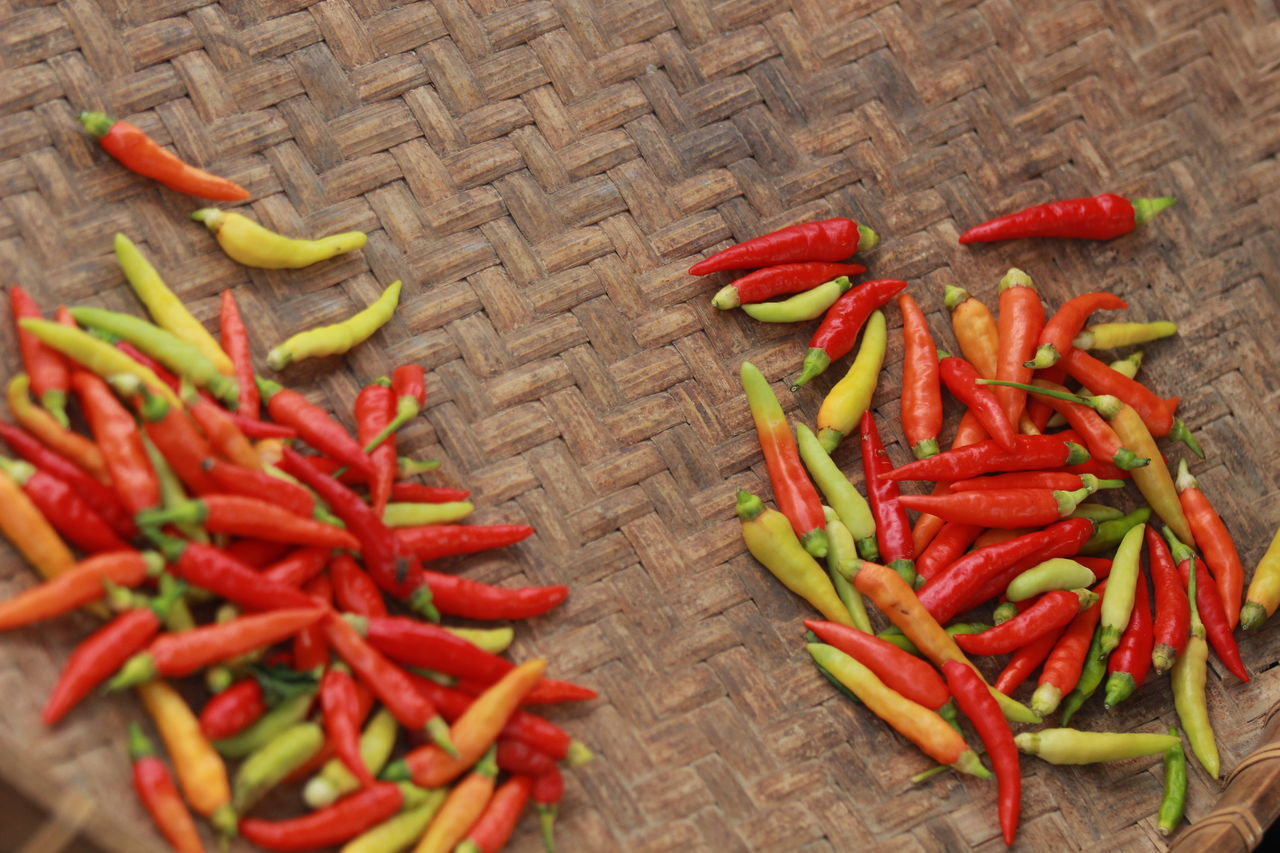 FRESH & HOT !! Chili  Chili Pepper Close-up Day Food Food And Drink Freshness Green Chili Pepper Healthy Eating Large Group Of Objects No People Outdoors Ready-to-eat Red Red Bell Pepper Red Chili Pepper Spice Still Life Vegetable