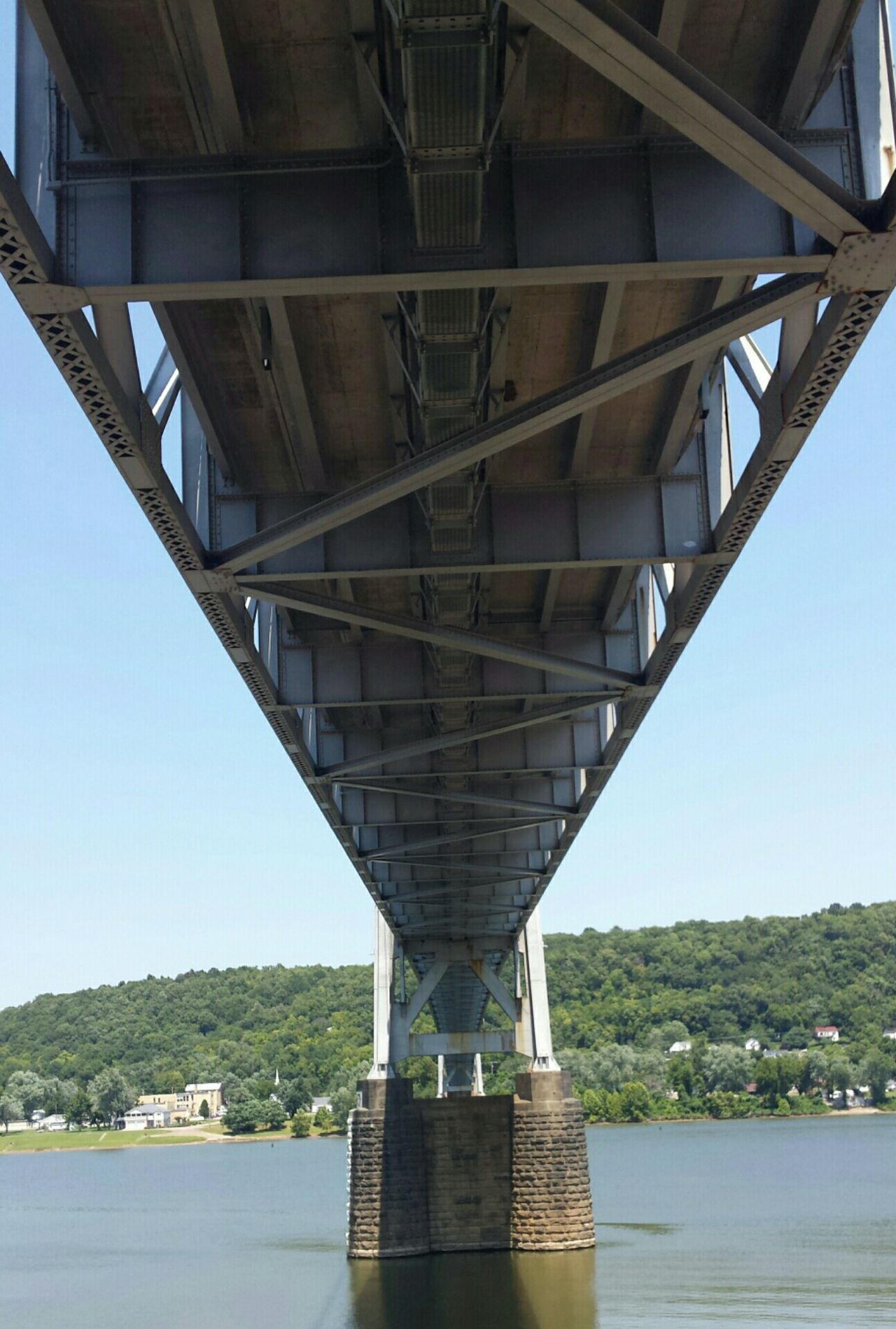 Underside of Simon Kenton bridge Bridge Downtown