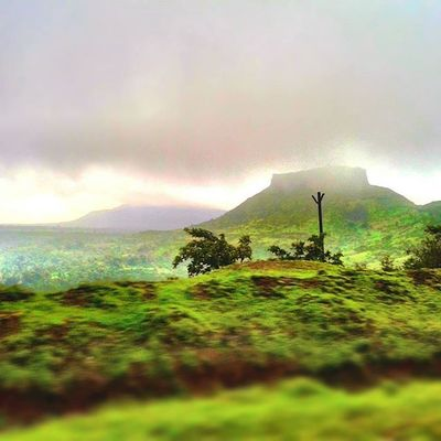 Journey Saputara Nashik Gujarat devlali mountain clouds skyporn grass landscape nature road happiness beautiful sunset instalike nasik nashikgram