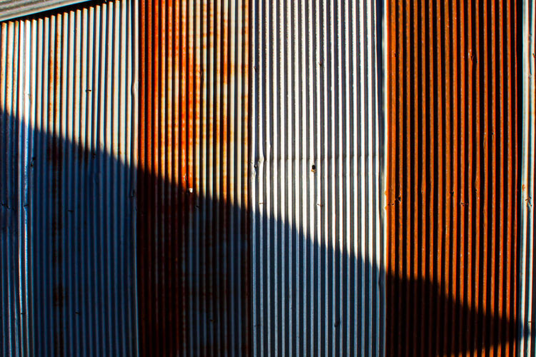 Backgrounds Close-up Corrugated Iron Day Galvanized Vertica Galvanized Vertical Indoors  Metal No People Old Shadow Textured