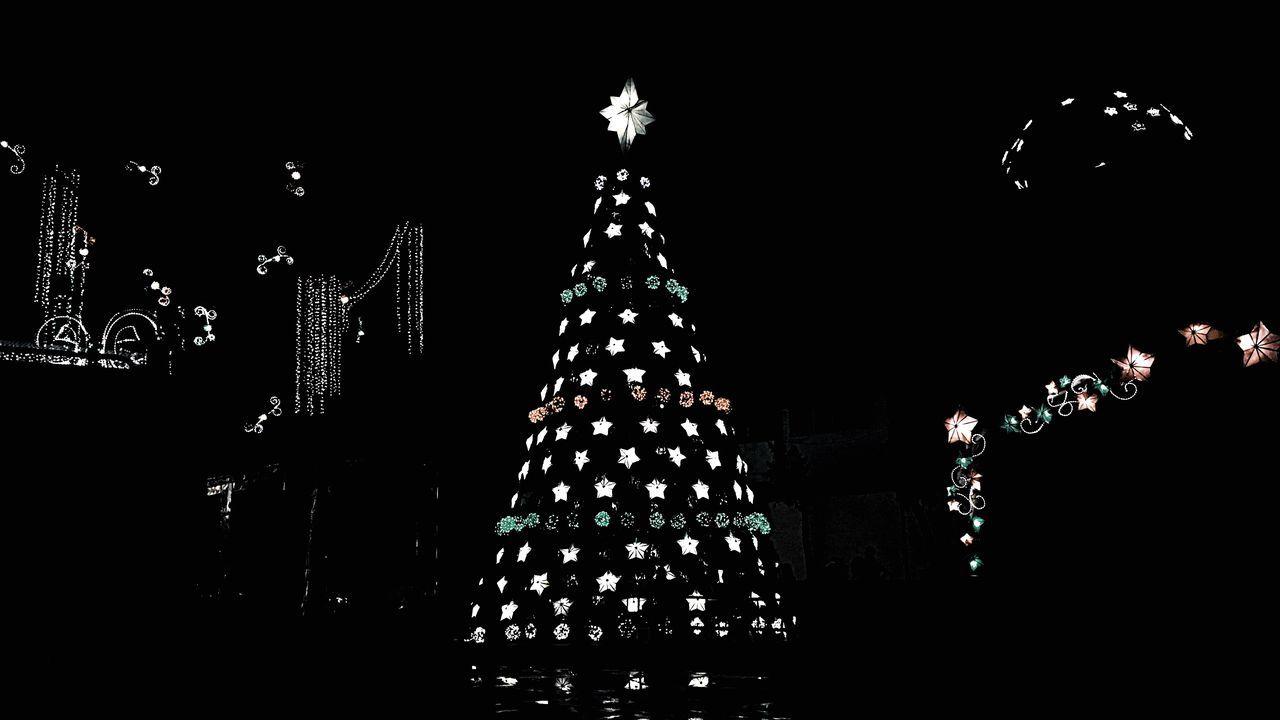 Christmas Celebration Christmas Tree Christmas Decoration Night Christmas Lights Holiday - Event No People Illuminated Sky Tree Topper Outdoors Christmas Ornament Eyeem Philippines PaskongPinoy2016