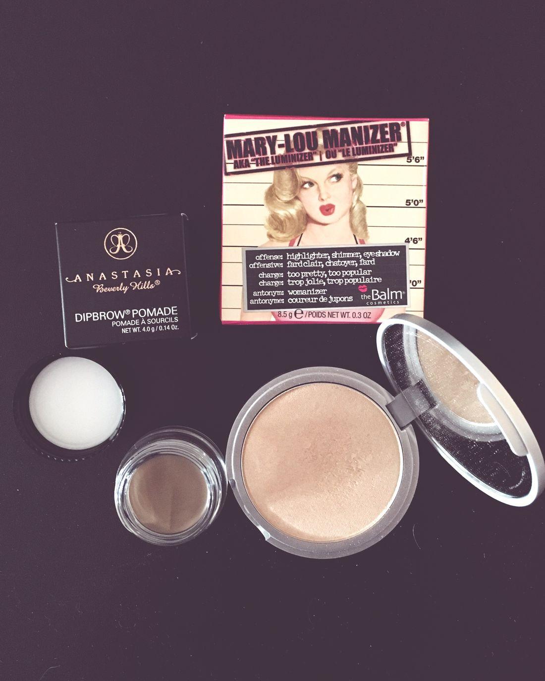 New in 💕 Sweden Makeup Anastasiabeverlyhills Dipbrowpomade Taupe Thebalm Maryloumanizer Highlighter Kicks Cocopanda