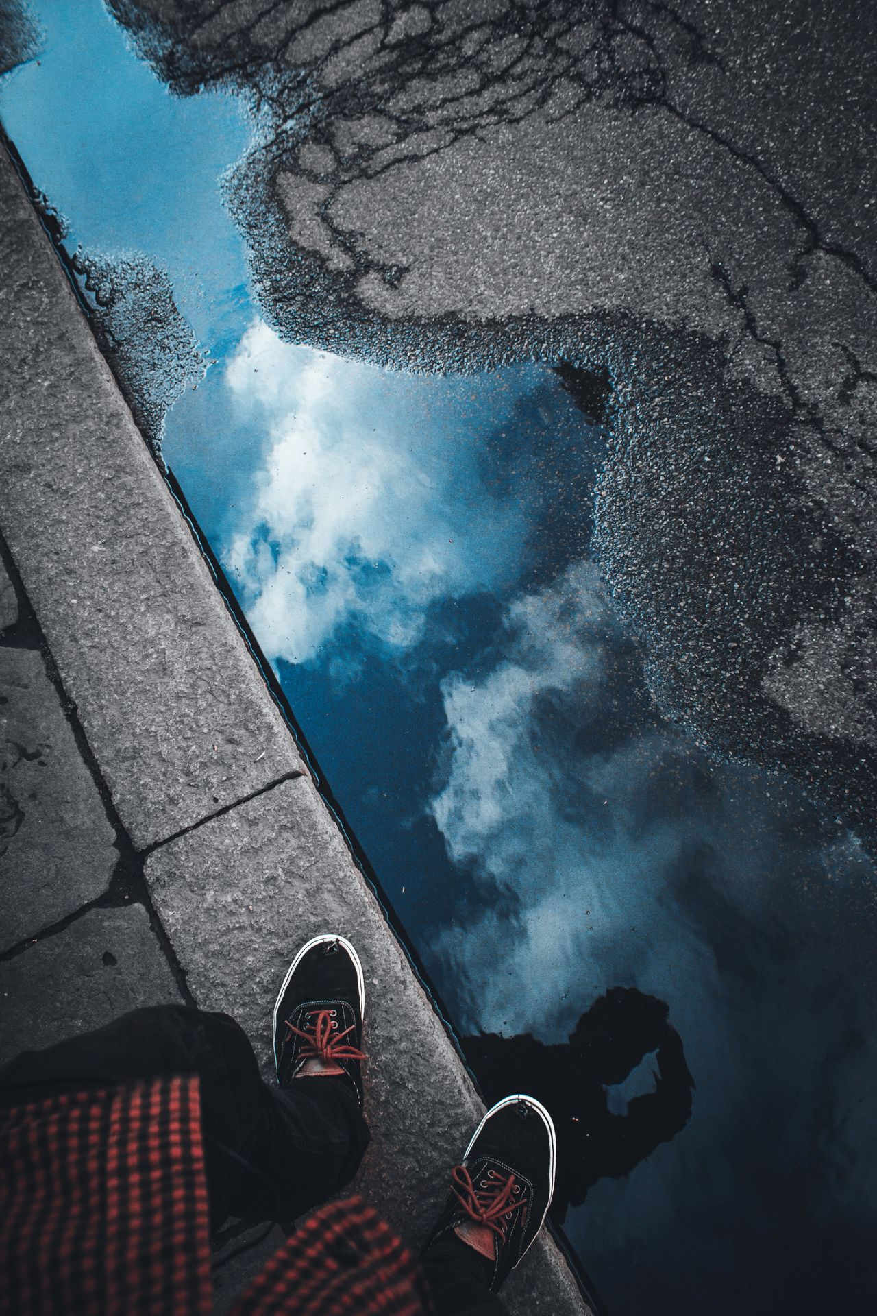 Human Leg Low Section Human Body Part One Person Personal Perspective Human Foot Shoe Water Real People Lifestyles Adult One Man Only Outdoors Day Sky Eye4photography  EyeEm EyeEm Best Shots Cloud - Sky EyeEm Gallery Colorful Tranquility Reflection The Street Photographer - 2017 EyeEm Awards