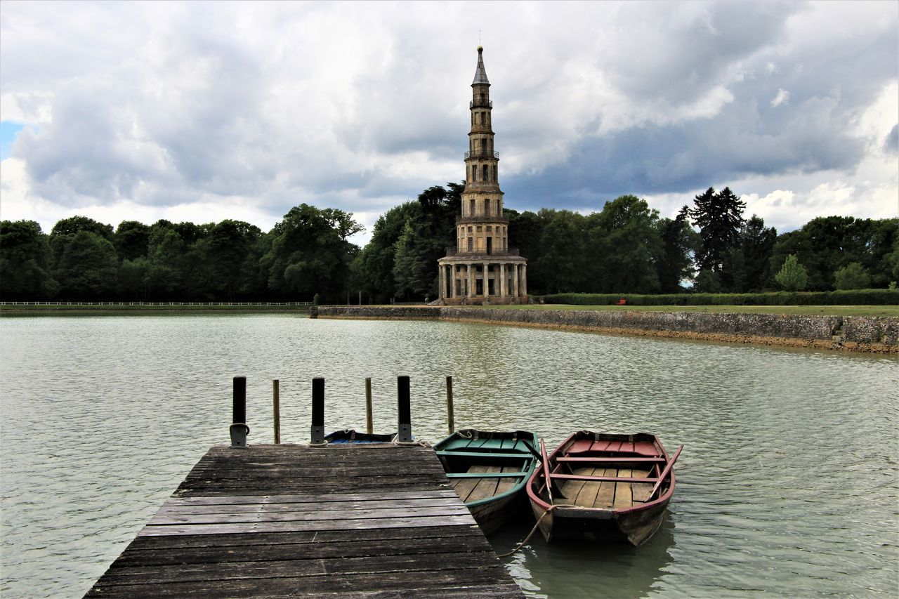 Cloud - Sky Water Architecture France🇫🇷 Tranquility Pagode Chanteloup History