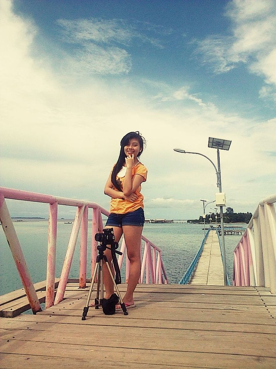 Tidung Island Hanging Out Beach Photography Vacasionestime bridge love