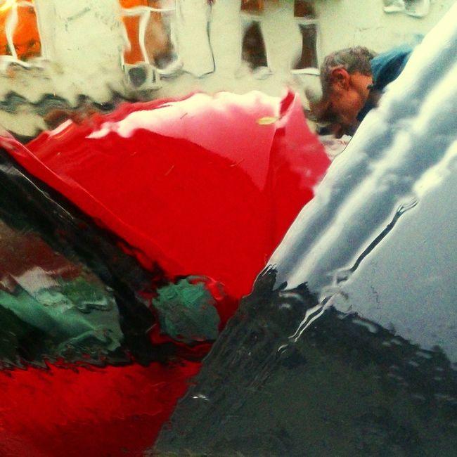 Дождь город Авто осень окна вчера Urban Auto Rain Red