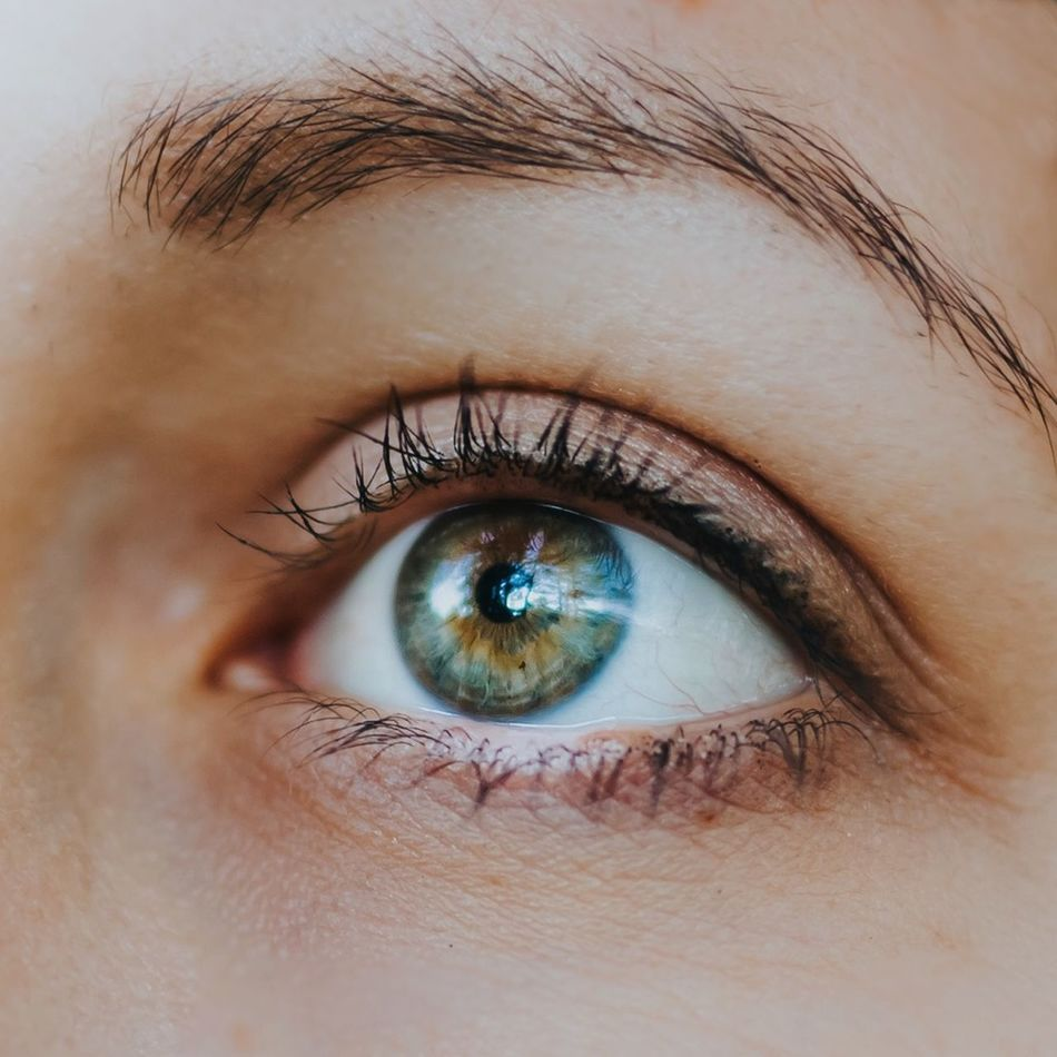 Adult Adults Only Blue Close-up Day Eyeball Eyebrow Eyelash Eyesight Green Hope Human Body Part Human Eye Iris - Eye Macro One Person One Woman Only Outdoors People Real People Sensory Perception Thoughtful Thoughts
