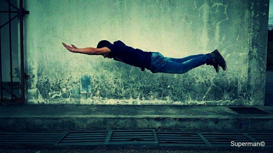 Balancing Act Superman push-up