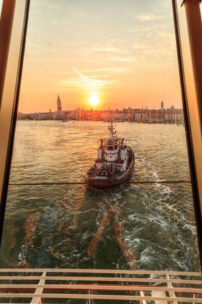 Sunset in Venice Nautical Vessel
