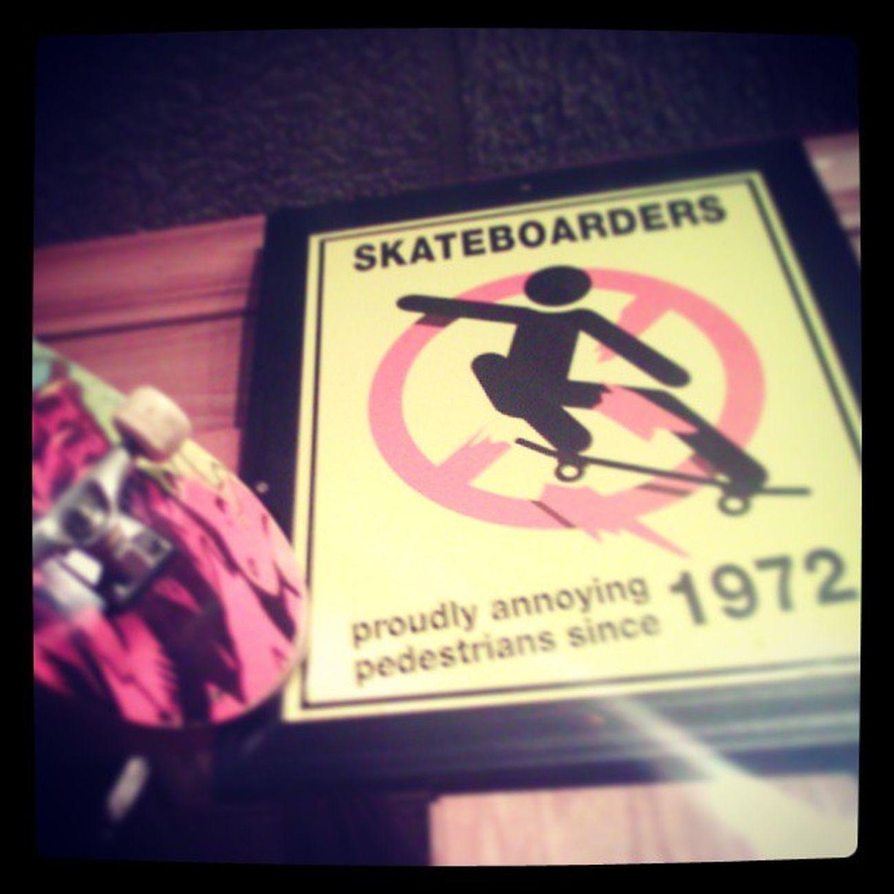 Skateboarding proudly anoying...