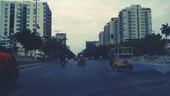Karachi Pakistan Pakistani Skyscraper Road