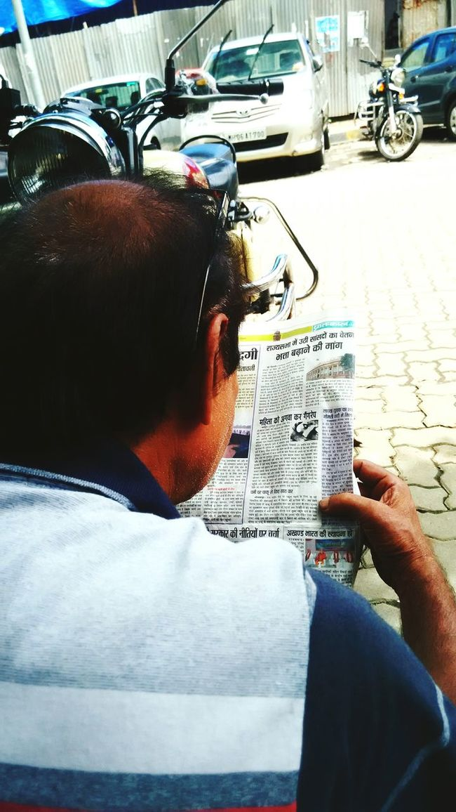 Newspaper Connecting With The World  Colour Of Life Old Age