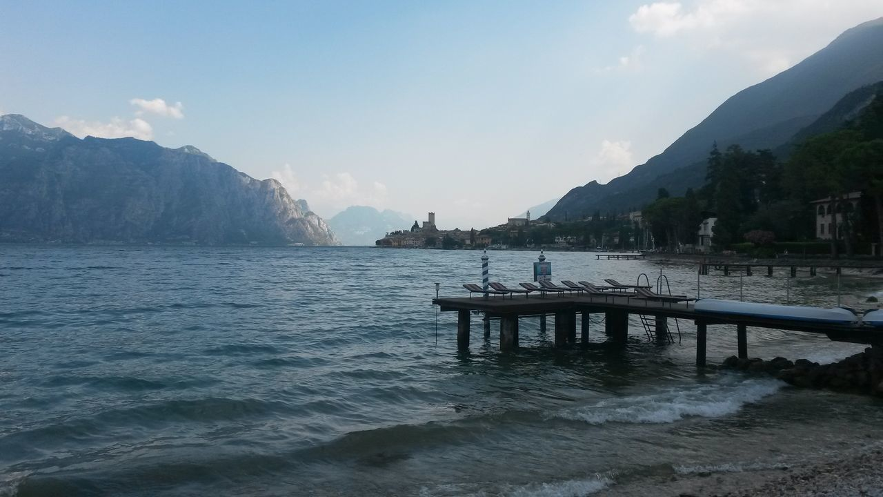 Tim Bailie Enjoying Life Lake Garda Malcesine Italy Italia Malcesine Castle Lake View Lakeside Pier Mountains Lake Water Jetty