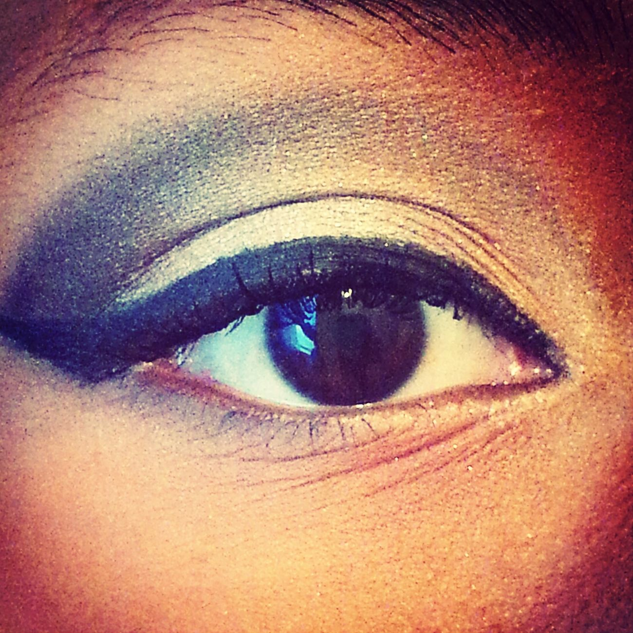 practicing my eyeshadow make-up skills. im a beginner so yeah. Make-up Eyeshadow Practicing Beginner