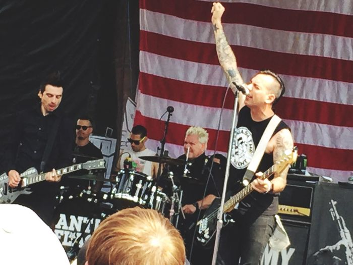 Anti-Flag. Doing what they do best. Kicking total ass. Taking Photos Punk Rock Music Warped Tour  Anti-flag