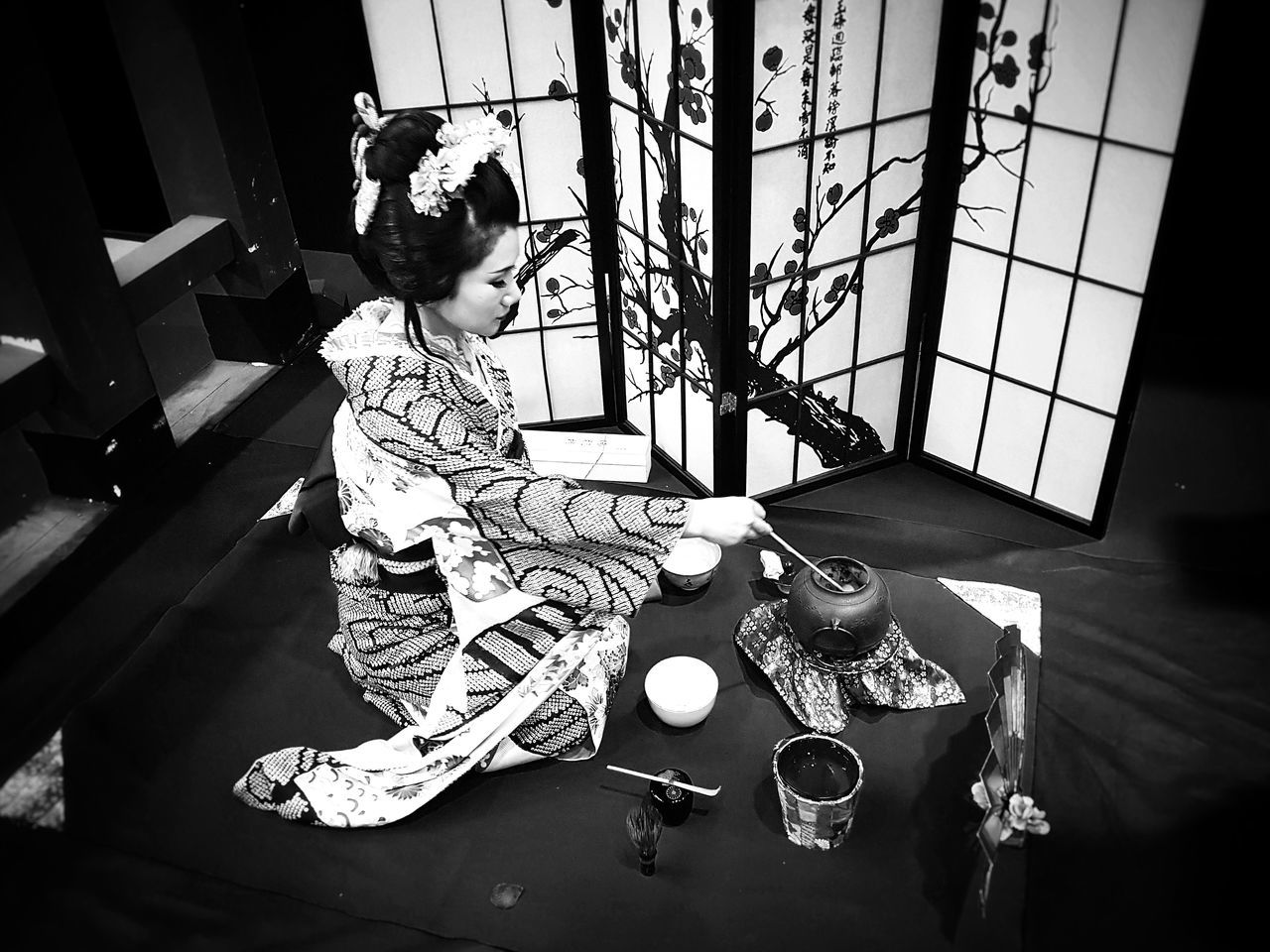 Geisha Ceremony Of Tea Tradition Woman Power Traditional Clothing Japan Photography Japanese Traditional BW Collection Woman Portrait Japanese  Japan Black And White Portrait Japanese Culture Portrait Blackandwhite Black & White Women Who Inspire You Lifestyles Old-fashioned Blackandwhite Photography EyeEm New Here Week On Eyeem Japanese Style Women Of EyeEm Women Around The World