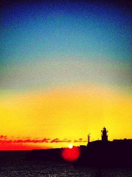 September evening in Menorca Sunset Menorca Enjoying Life Lighthouse