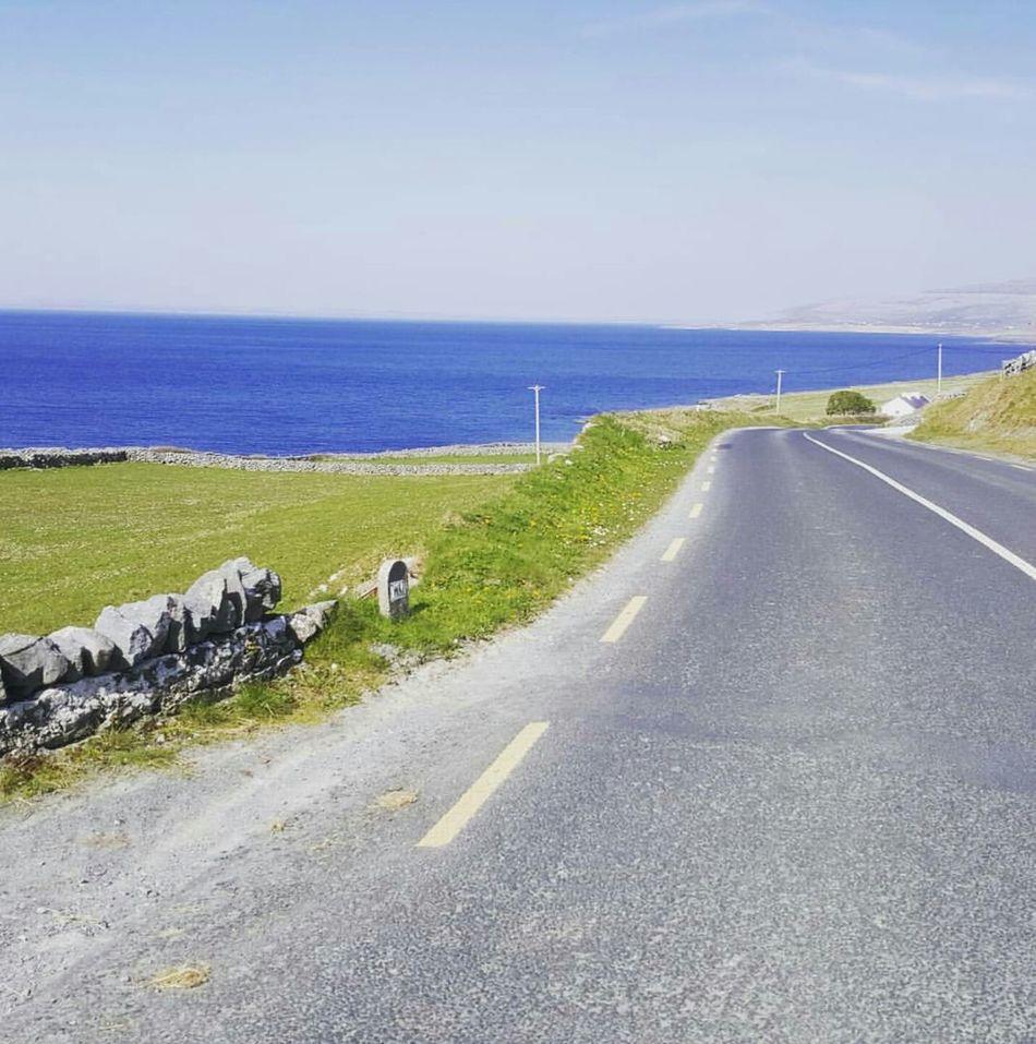 The Burren Beauty In Nature Scenics Road Landscape Nature Sea Ireland Wild Atlantic Way Tranquility Fanore, Ireland Cycling Limestone Rocks County Clare The Way Forward Blackhead