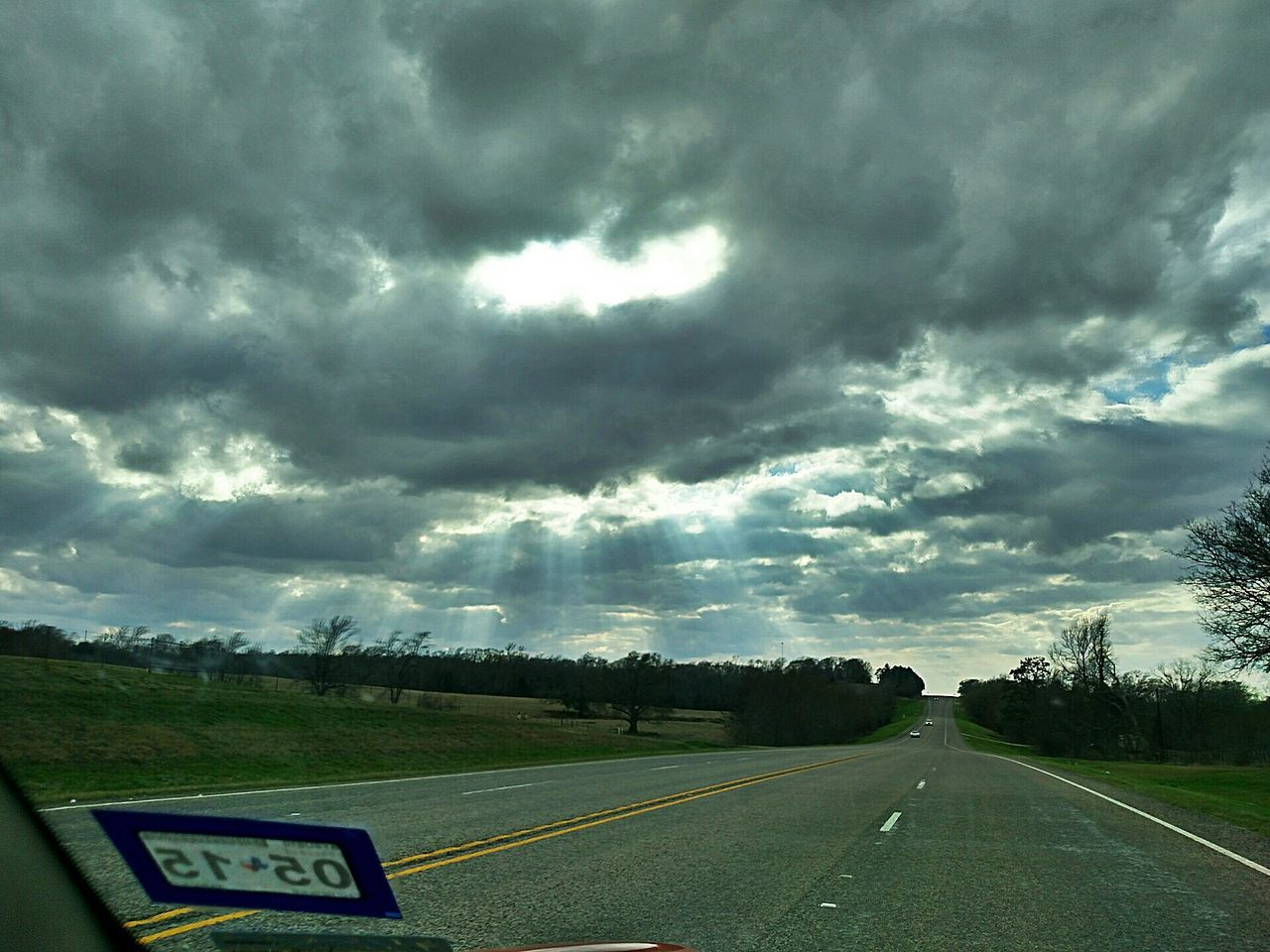 Cloudy Sky Above Road