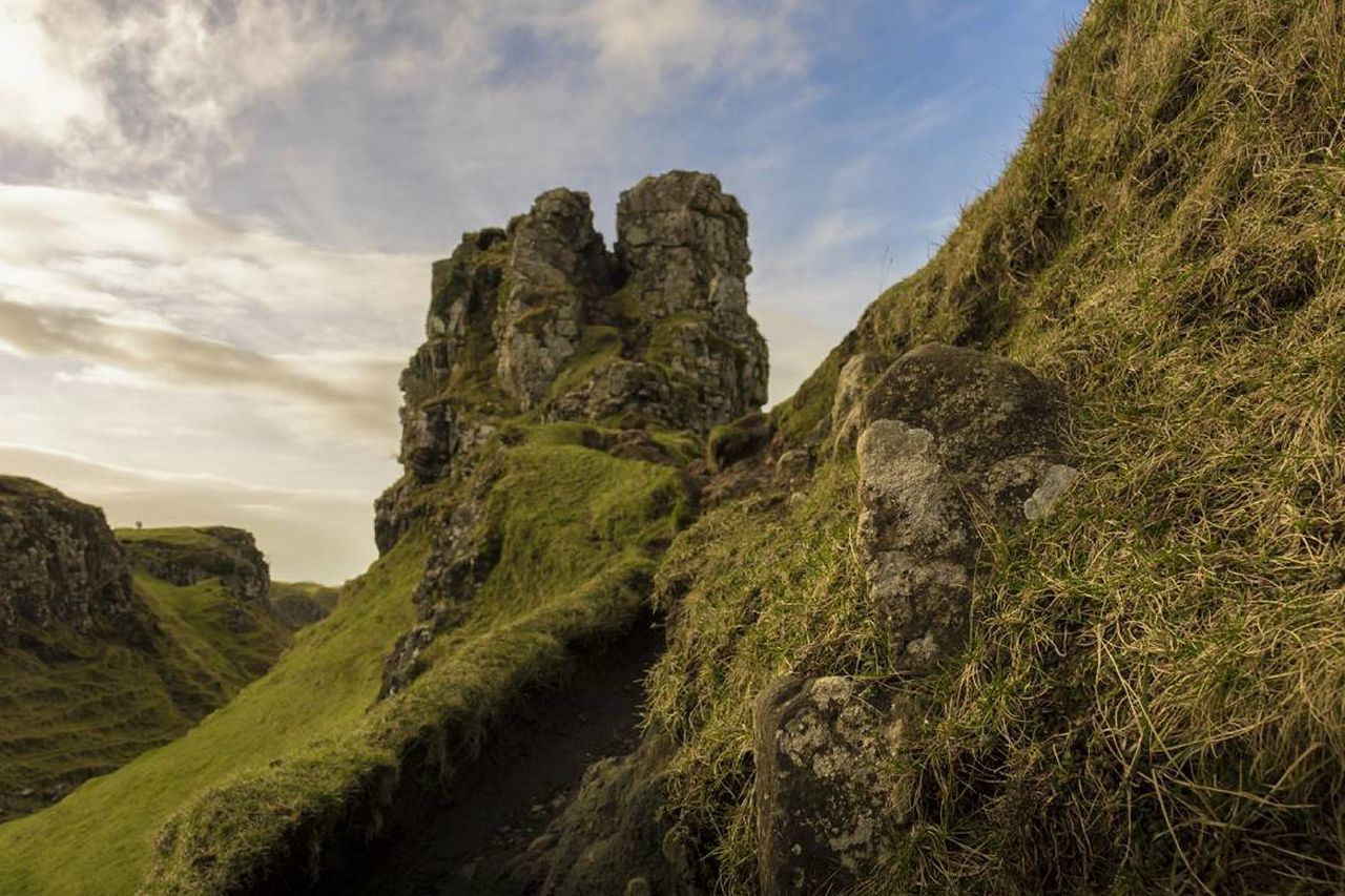 Scotland Fairy Glen Fairy Valley Cultures Travel Destinations Outdoors Sky Nature Highlands Uig IsleOfSkye EyeEm Best Shots EyeEm Nature Lover Canon Landscape_photography Tranquility Cloudy Tourist Tourism Vacations Explore Castle Rock EyeEmNewHere