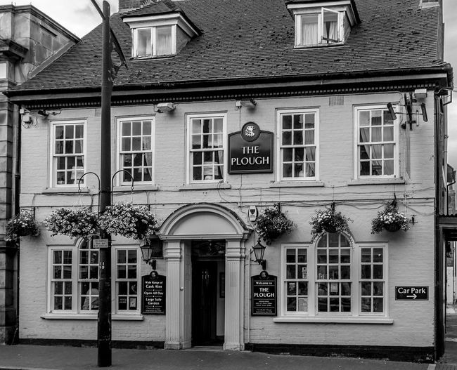 The Plough, High Street, Newport Pagnell, Buckinghamshire High Street Newport Pagnell Buckinghamshire Monochrome Black And White Architecture Buckinghamshire Pubs Pubs