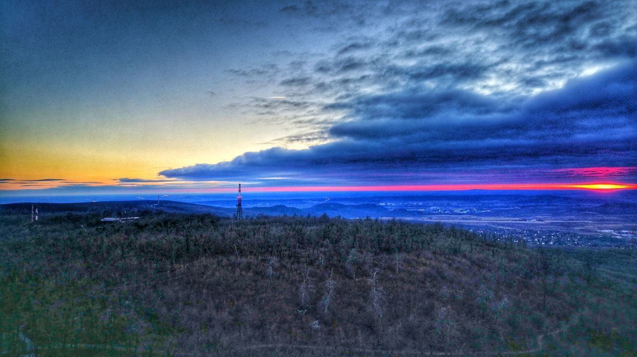 Hungary Winter Sunset Normafa