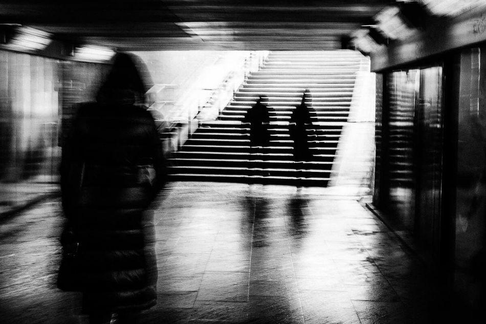 Blackandwhite Underground People Vibration Motion Blurred Motion Kaunas Streetphotography Strange Urban