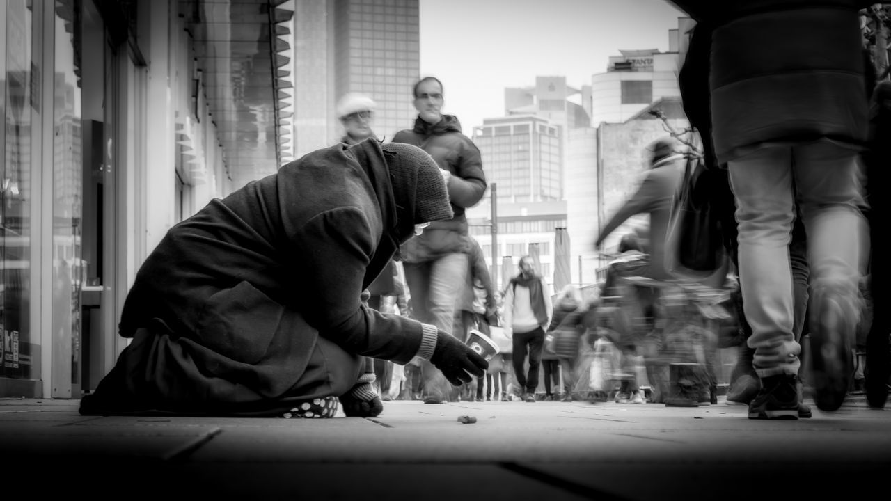 Homeless | #SPBLOG Beggar Black And White Blackandwhite Canonboyz Canonm5 City Frankfurt Homeless Low Angle View Monochrome People Poor  Real People Social Issues Street Street Photography Streetphoto_bw Streetphotography Urban Urban Exploration The Street Photographer - 2017 EyeEm Awards