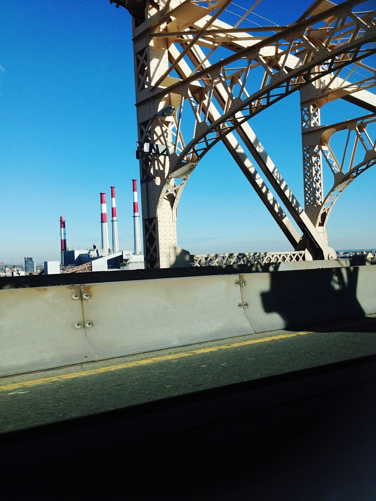 On My Way Home 2013 Journey 2013 Memories New York To  Gothenburg Love ♥ Bridge - Man Made Structure Outdoors Low Angle View Transportation Taxi Blue Sky Industry Bridge Will Miss You Connection No People