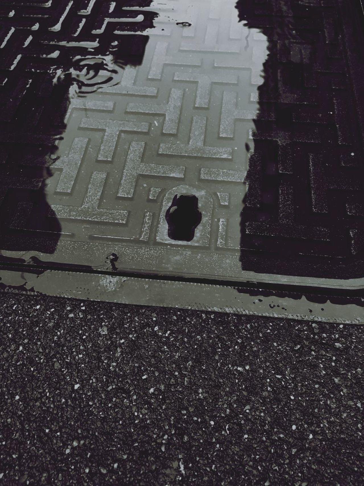 Rain Street Puddle Ground