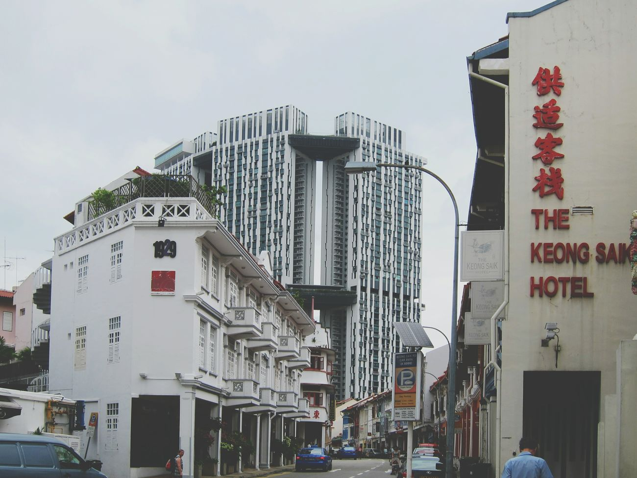 New & Old 新與舊 Streetphoto_color Architecture_collection Keongsaik  Singapore Hotel Open Edit Streetphotography Shophouses