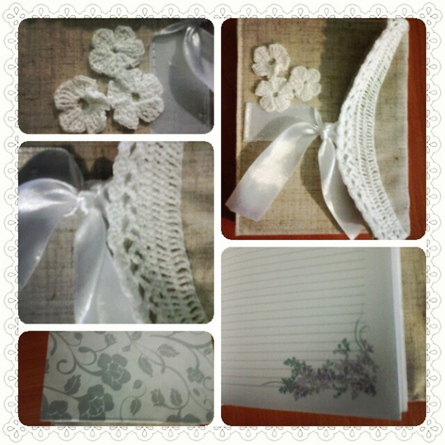 Блокнот с нуля: коптский переплет, плетеный каптал, формат а6; обложка: лен, атласная лента, вязаное крючком кружево и цветы. Handmade Bloknote блокнот кружево ручнаяработа