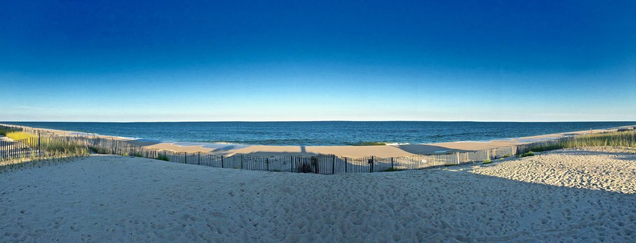 A panorama of the beach in Mantoloking, NJ. Atlantic Ocean Beach Jersey Shore Ocean Panorama Panoramashot Skty Sky Summer The Great Outdoors - 2017 EyeEm Awards