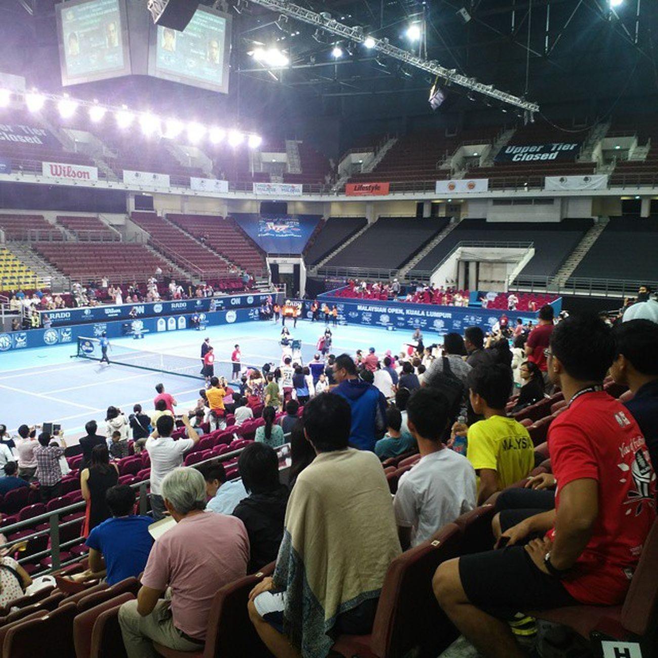 Yesterday's match featuring @keinishikori_official and Rajeev Ram @malaysianopentennis Tennis Kualalumpur Iamalexchan Malaysia million mokl2014 malaysianopentennis atp