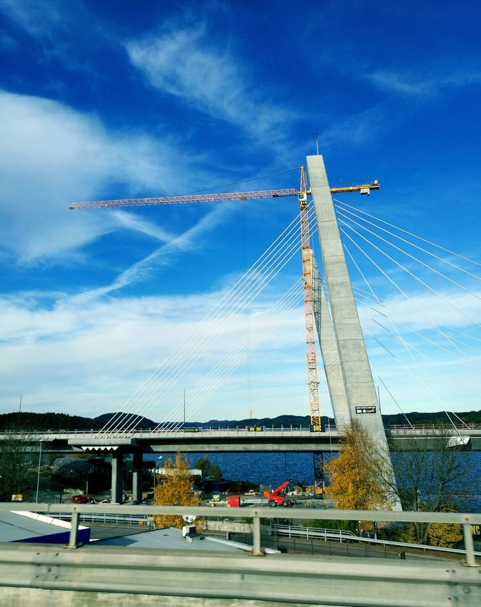 Built Structure Bridgeporn Bridgesaroundtheworld Bridge Over Water Newbuild RoadsideView Skyblue Clouds & Sky