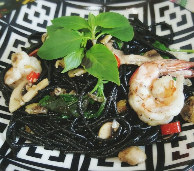 Pasta anyone ? My Home Cooking Dinner Time Yummy Pasta Squid Ink Pasta Enjoy Life My Cooking :)