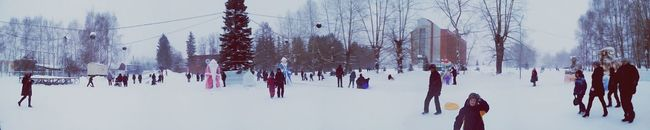 сибирь Kolpashevo Winter Children Hello World
