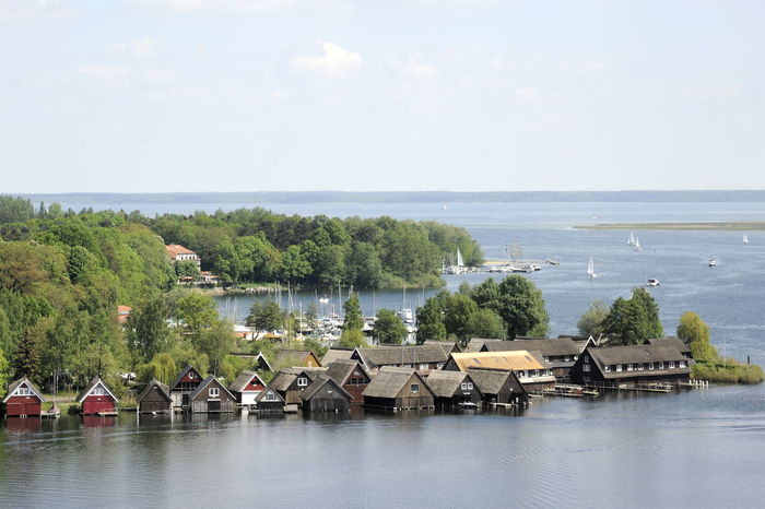 Mecklenburg-Vorpommern Architecture Beauty In Nature Boathouse Boathouses Built Structure Day Horizon Over Water Mecklenburgische Seenplatte Nature No People Outdoors Scenics Sea Sky Tranquil Scene Tranquility Tree Water