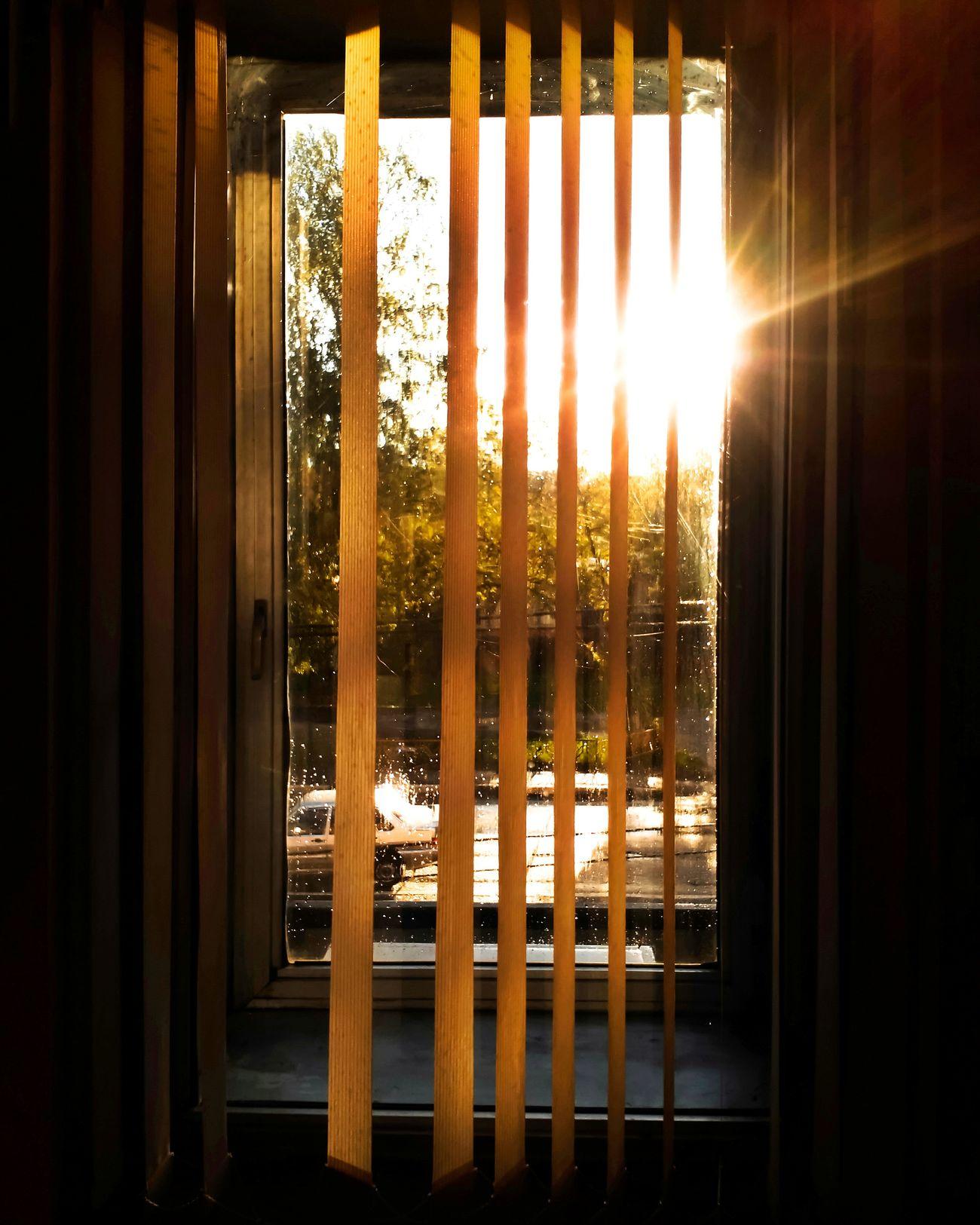 There's the last sunset of spring. Sergey Diploidrec BeardMan ♡♡ EyeEm Best Shots MyLove❤ Stillinlovewithyou  Window Jalousie Window Jalousie Sunsets Sunlight ☀ Sunsetwindow