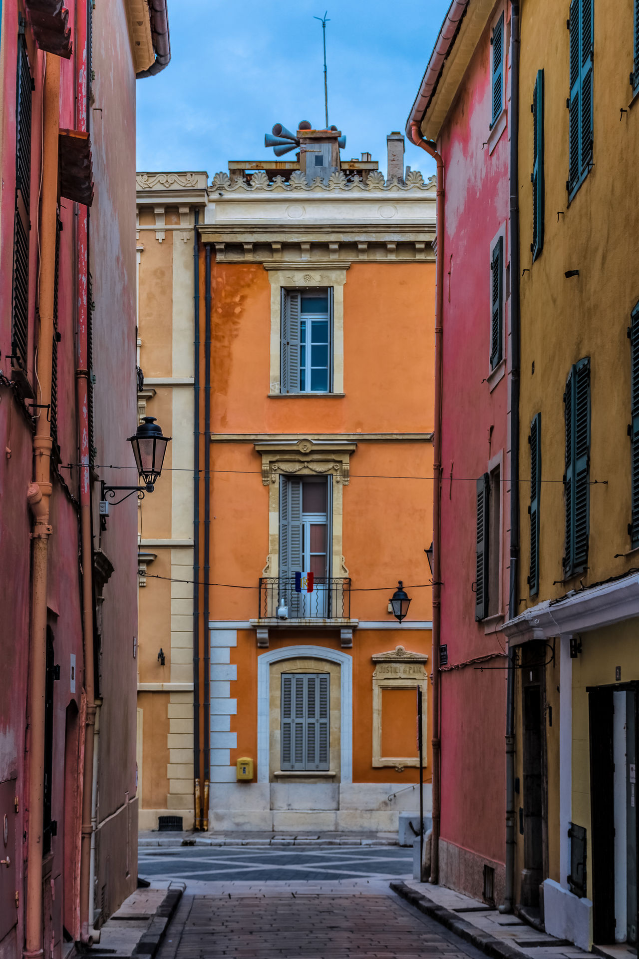 Architecture Building Exterior Built Structure Colorfull Day Door France No People Outdoors Residential Building Sky St. Tropez Street Window