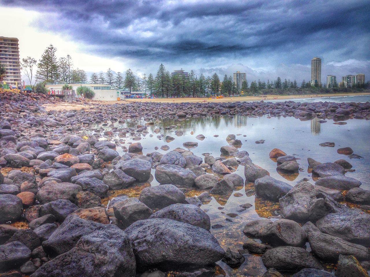 Iphoneonly Gold Coast Sea Surf Photography Storm Sky Water Reflection Rocks Burleigh Australia Beautiful