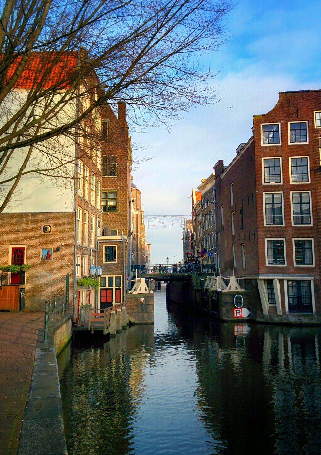 Amsterdam Canals Industrial Architecture Locks Urban Escape Winter Sky Cityscape