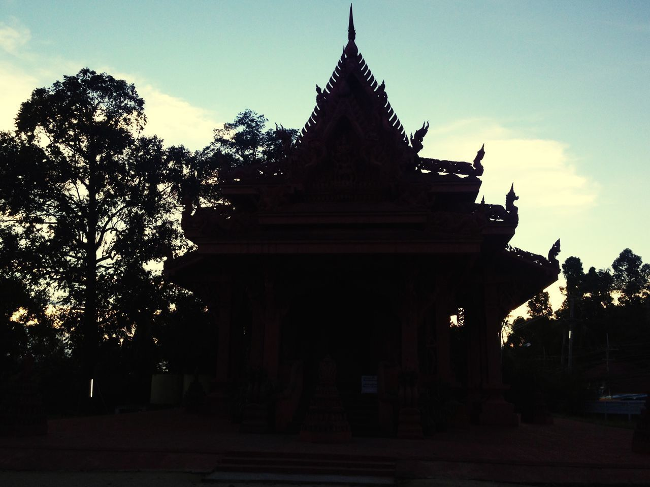 Thai Temple Temple Thailand Thai Budhism Architecture Tree Silhouette Built Structure Outdoors Sky No People Sunlight Building Exterior Day Nature Statue Sculpted