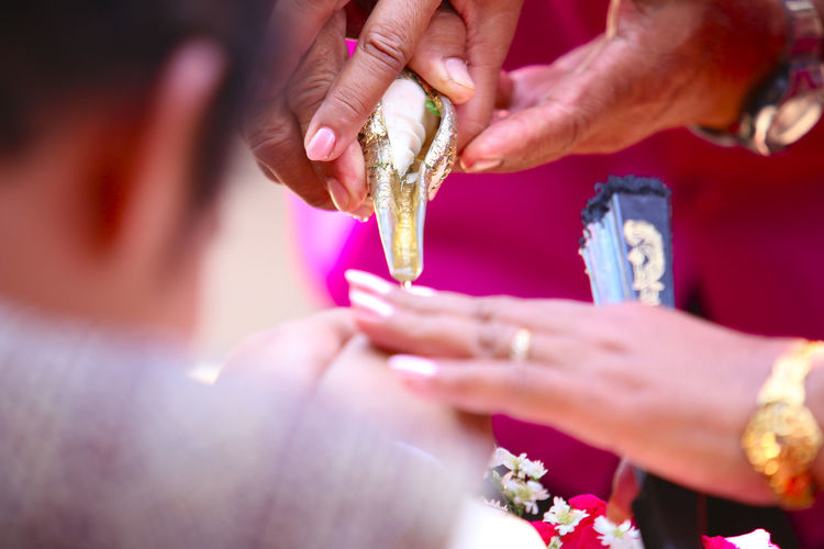 Watering ceremony in Thailand Wedding style. Happy People Adult Bride Bridegroom Celebration Ceremony Close-up Day Flower Giving Hand Happy Time Human Body Part Human Hand Men Outdoors People Real People Togetherness Two People Watering Ceremony Wedding Wedding Ceremony Wedding Ceremony-thai Style Women