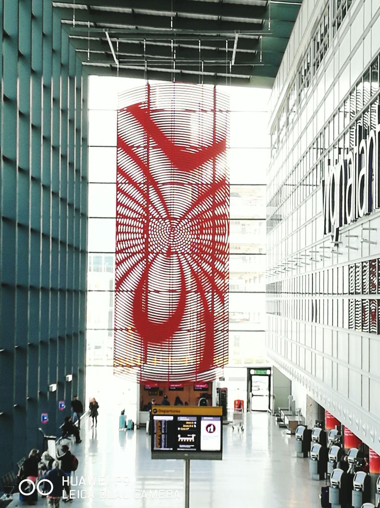 Art Installation terminal 3 London Heathrow Art Architecture No People Indoors