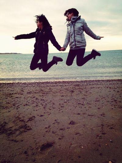 Having fun on the beach wit boo Jess!