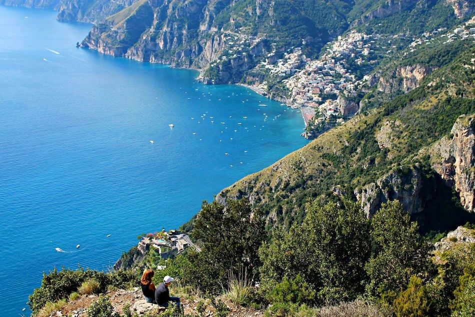 Tranquility Blue Idyllic Sea Coastline High Angle View Path Of Gods Amazing View Positano My Point Of View Stolenshots Aroundtheworld Stolenmoments Amazingcolors Travelphotography Beauty In Nature Costiera Outdoors Mountain Beautiful Place Italy Tranquility